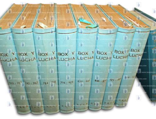 ¡Colección del año 1963 a la fecha de Box y Lucha en venta!