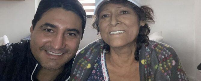 """Erik """"Terrible"""" Morales y su mamá"""